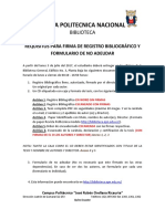 Requisitos Para Registrobibliografico