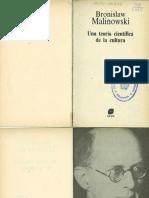 MALINOWSKI, B. Una Teoria Cientifica de La Cultura