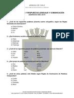 Guia Preguntas Lenguaje y Comunicacion 2018