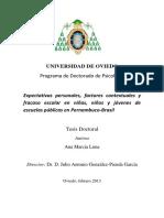 Expectativas personales, factores contextuales y fracaso escolar en niñas, niños y jóvenes de escuelas públicas en Pernambuco-Brasil