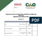 Memoria de Fabricacion de Camion de Servicio Esco Peru Srl Rev 0