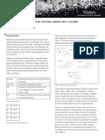Determination of Aflatoxins H P l C Columns