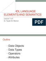 Lecture 7 8 Vhdl Semantics and Elements