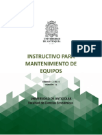 Instructivo Para Mantenimiento de Equipos (CE-In-01)