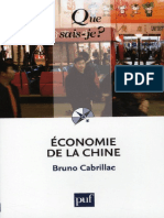 Economie de La Chine - Cabrillac Bruno