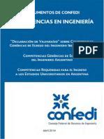 Competencias Requeridas Para Ingreso y El Egreso Universidades de Ingenieria 2014