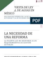 Propuesta Ley General de Aguas México