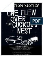 Cuckoo's Nest Audition Notice