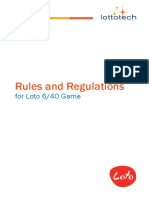 Rules and Regulation 2016
