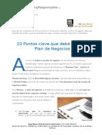 10 Puntos Clave Que Debe Tener Tu Plan de Negocios