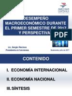 Presentación Desempeño Macroeconómico y Perspectivas AMCHAM 5 de Julio 2017sffr
