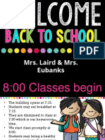 curriculum night - eubanks   laird