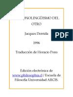 Derrida el monolinguismo del otro.pdf