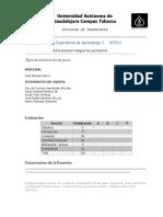 Reporte Parcial de Experiencia de Aprendizaje 1 IP7512