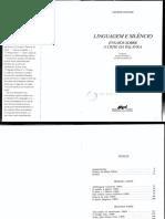 STEINER, George. Linguagem e silêncio.pdf
