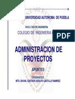 Administracion de Proyectos Otoño 2013