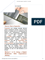 How to Test a Capacitor – البوابة الهندسية - هندسة الالكترونيات