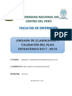 Jornada de Elaboración y Validación Del Pei 2017 2019.1