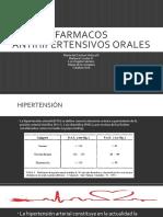 FARMACOS ANTIHIPERTENSIVOS ORALES