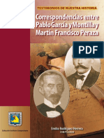 Correspondencia entre Pablo Gacía  y Francisco Peraza