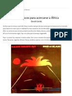 Cinco Discos Para Acercarse a África