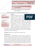 Process Validation of Oral Solid Dosage Form. Tablet-An Overview