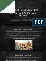 Gobierno Eclesiastico en El Libro de Los Hechos