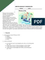 Prueba de Lenguaje y Comunicación Pronombres
