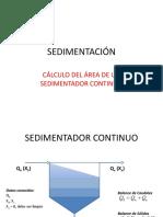 Área de Sedimentador Continuo