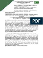 Variabilidade Espacial e Definição de Classes de Produtividade Da Soja Em Solos Do Cerrado