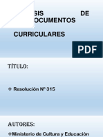 Análisis de Documentos Curriculares