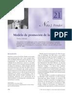Teorc3ada Nola j Pender Modelo de La Promocic3b3n de La Salud