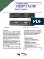 Double Cassette Player