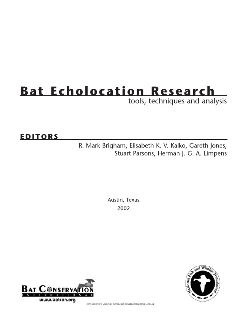 Batecholocationresearchpdf Bat Ultrasound