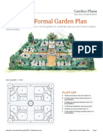 Easy Care Formal Garden Plan