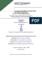 Social Compass-1999-OUÉDRAOGO-Esquisse d'Une Sociologie de La Bible Chez Max Weber