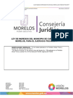 17 01 Ley de Ingresos Del Estado de Morelos 17
