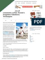 The 9 Lost Throws of Funakoshi Gichin_Karates Forgotten Takedown Techniques