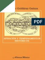 GOLDARAZ GAINZA, J. - Afinación y Temperamentos Históricos
