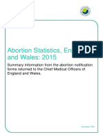 Updated Abortion Statistics 2015
