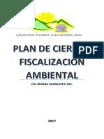 Plan de Cierre Huancapeti