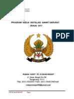 Program Kerja IGD Tahun Anggaran 2017