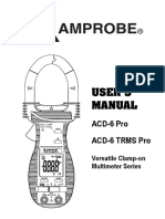 ACD 6 PRO ACD 6 TRMS PRO Clamp on Multimeters Manual