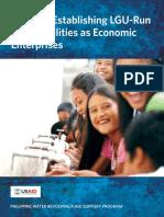 Guide to Establishing LGU-Run Water Utilities as Economic Enterprise