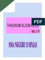 Taksonomi Bloom Revisi 2017