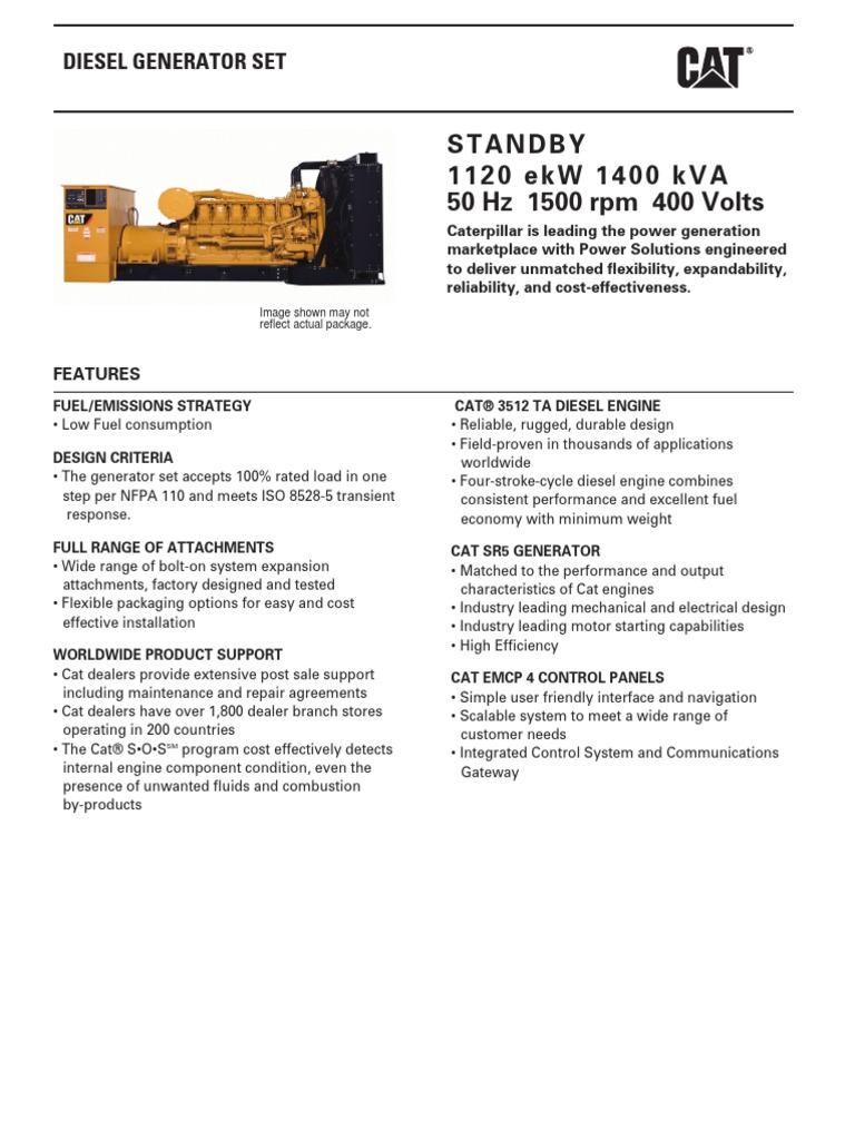 3512 1400 kVA 35121400SB | Diesel Engine | Engines