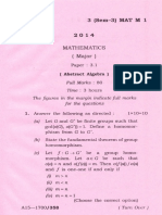 Bsc Mathematics Major Paper