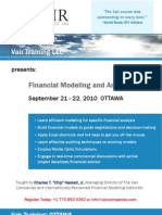 Financial Modeling & Analysis Course, Ottawa - The Vair Companies