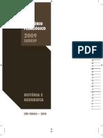 SARESP - RELATÓRIO PEDAGÓGICO HISTÓRIA E GEOGRAFIA - 2009_2010