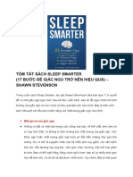 Tóm Tắt Sách Sleep Smarter (17 Bước Để Giấc Ngủ Trở Nên Hiệu Quả) – Shawn Stevenson